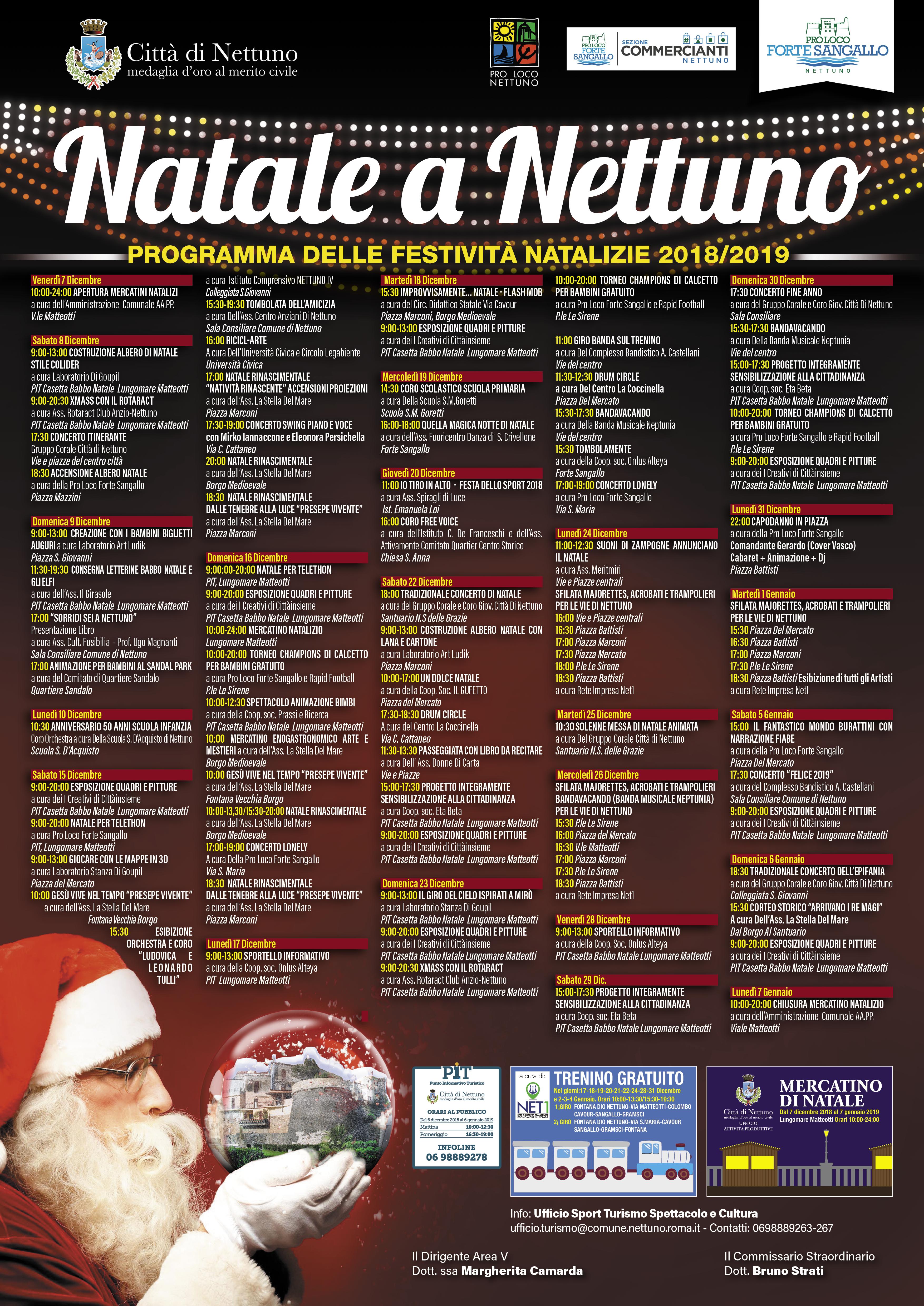 Calendario Feste.Nettuno Un Ricco Calendario Per Le Feste Di Natale Ecco Il